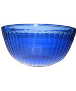 Vintage Pyrex Cobalt Blue Ribbed Clear Glass Mi... - $24.74
