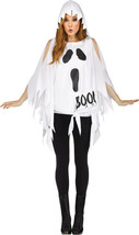 White Polyester Ghost Cold Shoulder Poncho Style Costume/NWT/OS Adult 4-14 - £19.19 GBP