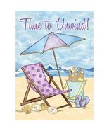 Rain or Shine 18-in x 12.5-in It's Time to Unwind Flag - $8.98