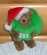 """Boyds Plush 8"""" Santa Cap Bear Exclusive in Candy Green M & M's Costume - $7.29"""