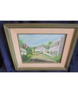 Mid Century Oil on Canvas New Castle NH, Piscataqua Street, Very Nice - $257.13