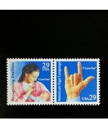 1993 29c Deaf Communication, Pair Scott 2783-84 Mint F/VF NH - $1.38