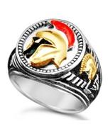 Trojan Helmet Men's Signet ring....sterling silver Bronze - $89.00