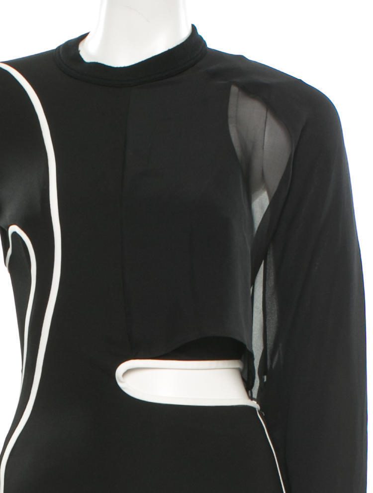 CRAZY COOL, NWT $1,782 SEXY SOLD OUT BLACK & WHITE BODYCON ALEXANDER WANG DRESS image 4