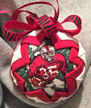 Quilted Football Player Themed Christmas Holida... - $26.00