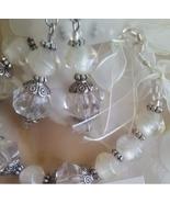 Glass Pearl Cat Eye Bracelet Earrings  - $13.00