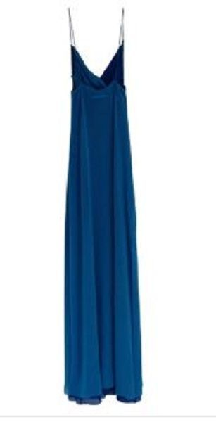GORGEOUS NEW TWO-TONE BLUE JEAN PAUL GAULTIER MAXI MESH DRESS