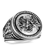 American Eagle,Men's Coin ring,,,,Sterling Silver,Lge. - $72.00