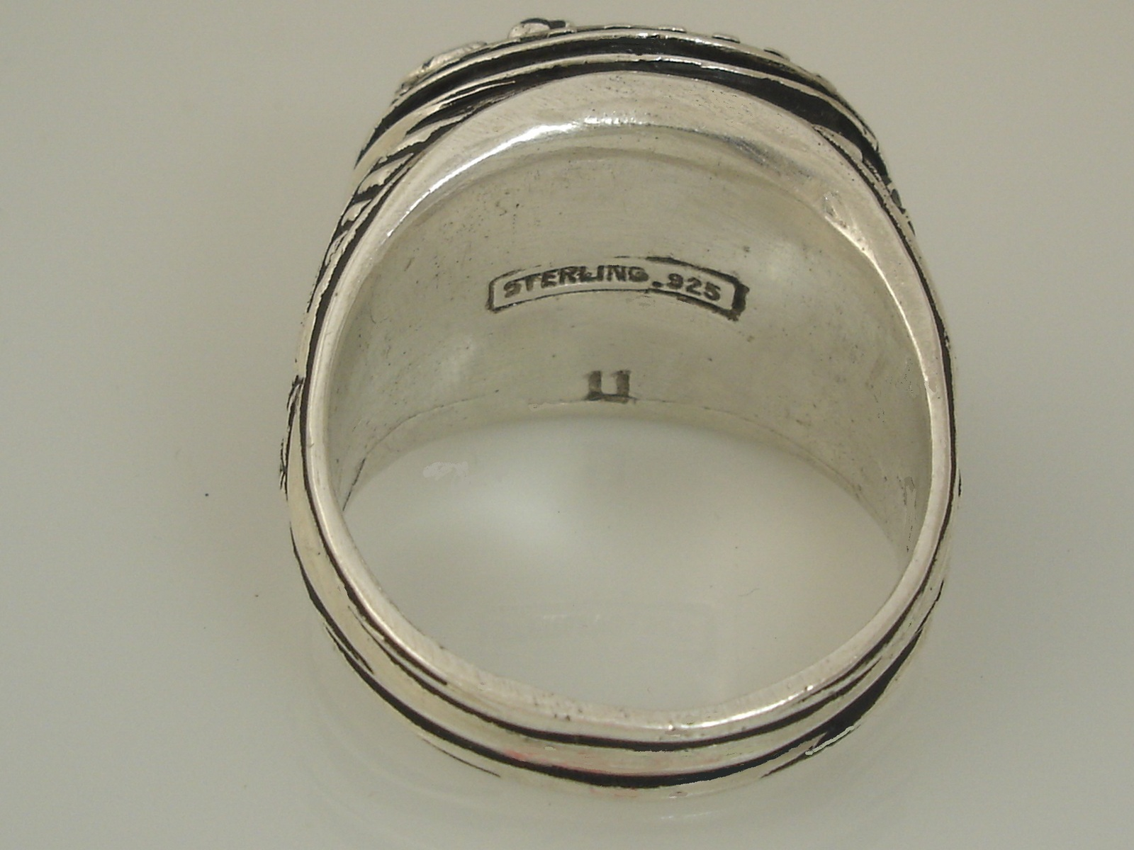 American Eagle,Men's Coin ring,,,,Sterling Silver,Lge.