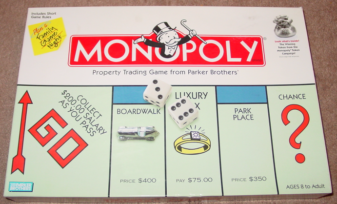 Primary image for MONOPOLY PROPERTY TRADING GAME 1999 PARKER BROTHERS INCLUDES RETIRED IRON
