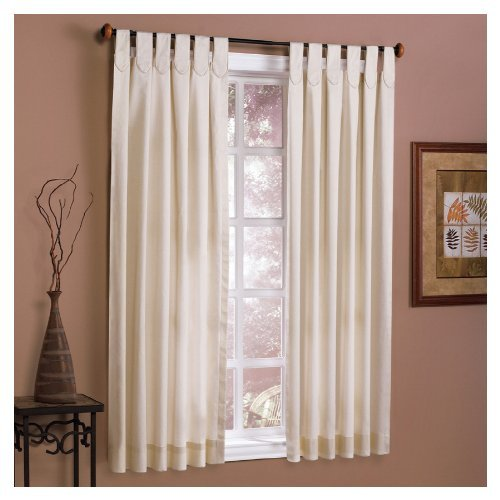 """Style Selections Biege 40 X 63"""" Linen Twill Solid Window Panel - $33.68"""