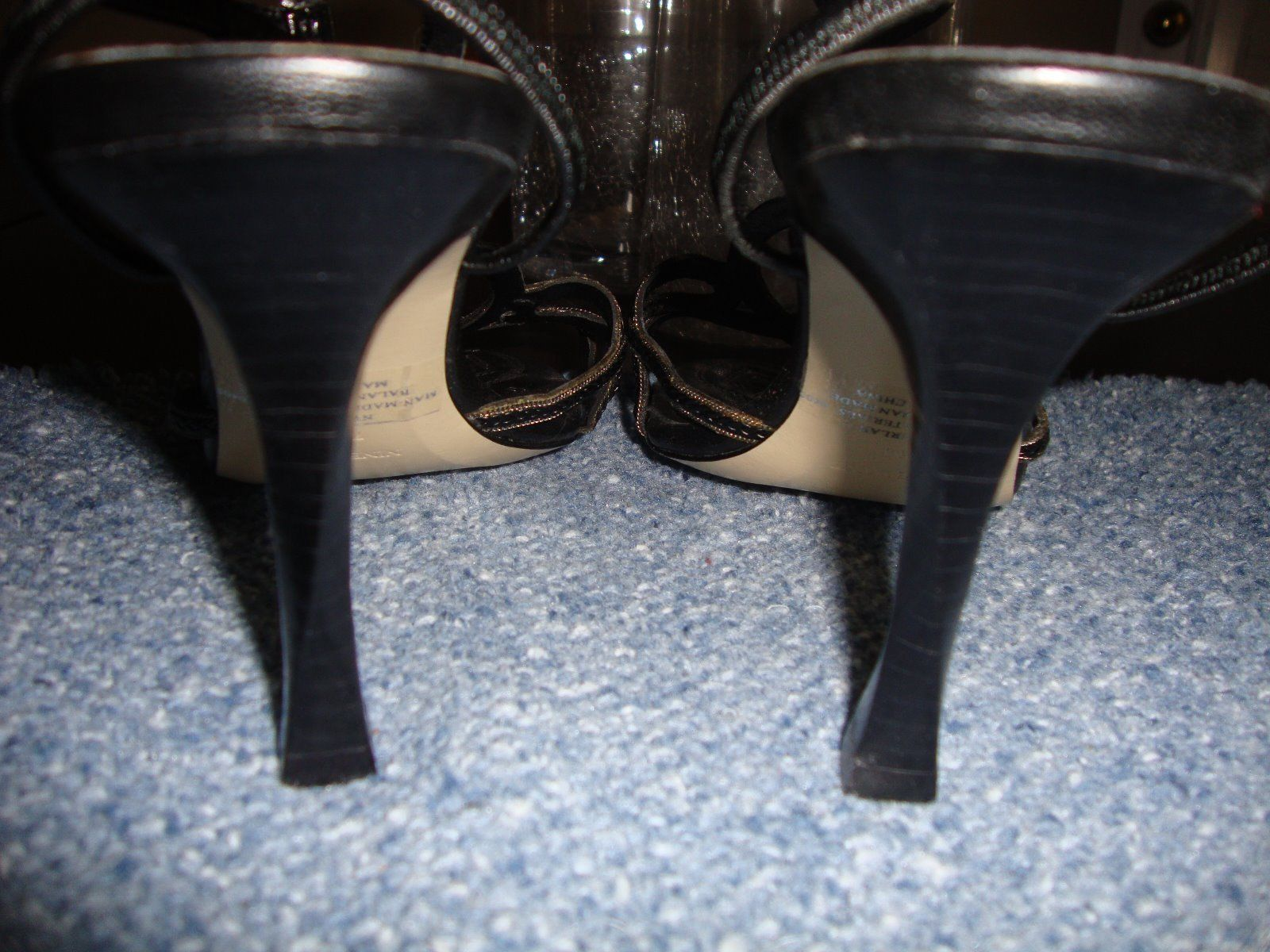 STYLISH, NEW NINE WEST BLACK HEELS