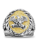 Roman Eagle SPQR mens signet ring Sterling Silver Lge - $89.00