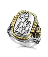 Menes First Egyptian Pharaoh ring Sterling Silv... - $107.91