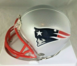 TOM BRADY / AUTOGRAPHED NEW ENGLAND PATRIOTS LOGO MINI HELMET / MOUNTED MEMORIES image 3