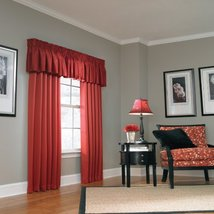 """18"""" L x 45"""" W Red Lincolnshire Tailored Valance - $15.98"""