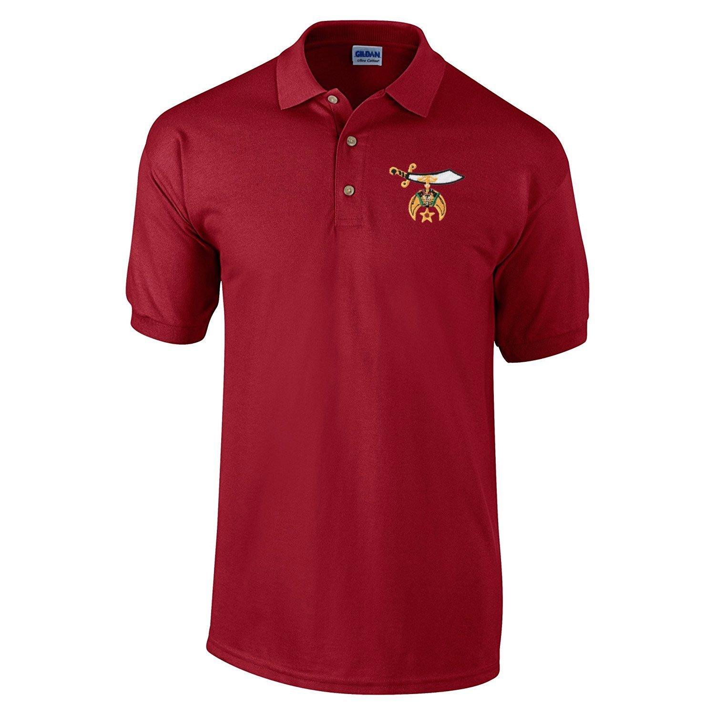 Logoz usa shriners polo golf shirt masonic apparel for Mason s men s shirts