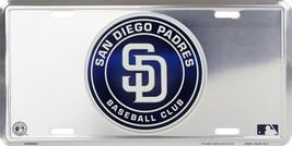 MLB San Diego Padres Chrome Aluminum Metal Car ... - $5.95