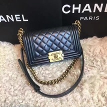 Authentic Chanel Quilted Small Boy Flap Bag Black GHW image 2