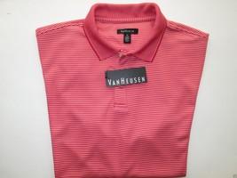 Van Heusen 50K8345633 Short Sleeve Men's Polo T-Shirt Red Cardinal M MSR... - $20.60