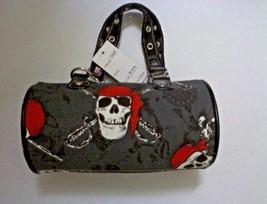 Skull Cross Bone Girls Zipper Handbag Purse Strap - $9.95