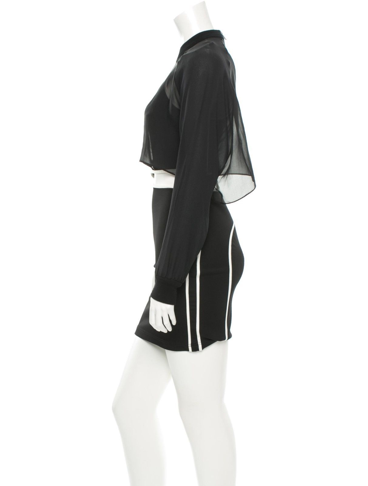 CRAZY COOL, NWT $1,782 SEXY SOLD OUT BLACK & WHITE BODYCON ALEXANDER WANG DRESS image 3