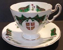 RIDGWAY ROYAL ADDERLEY BONE CHINA NEWFOUNDLAND TARTAN CUP & SAUCER - ENG... - $24.74