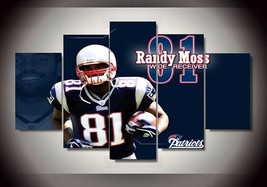 5 Pcs New England Patriots 81 Footballer Randy Moss Picture Wall Painting - $47.99+