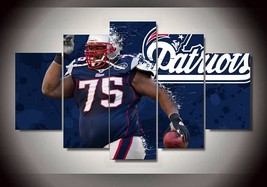 5 Pcs New England Patriots 75 Footballer Vince Wilfork Picture Wall Pain... - $47.99+