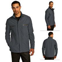 OGIO Mens Diesel Gray Waterproof Poly Fleece Intake Jacket Size Small - $47.56
