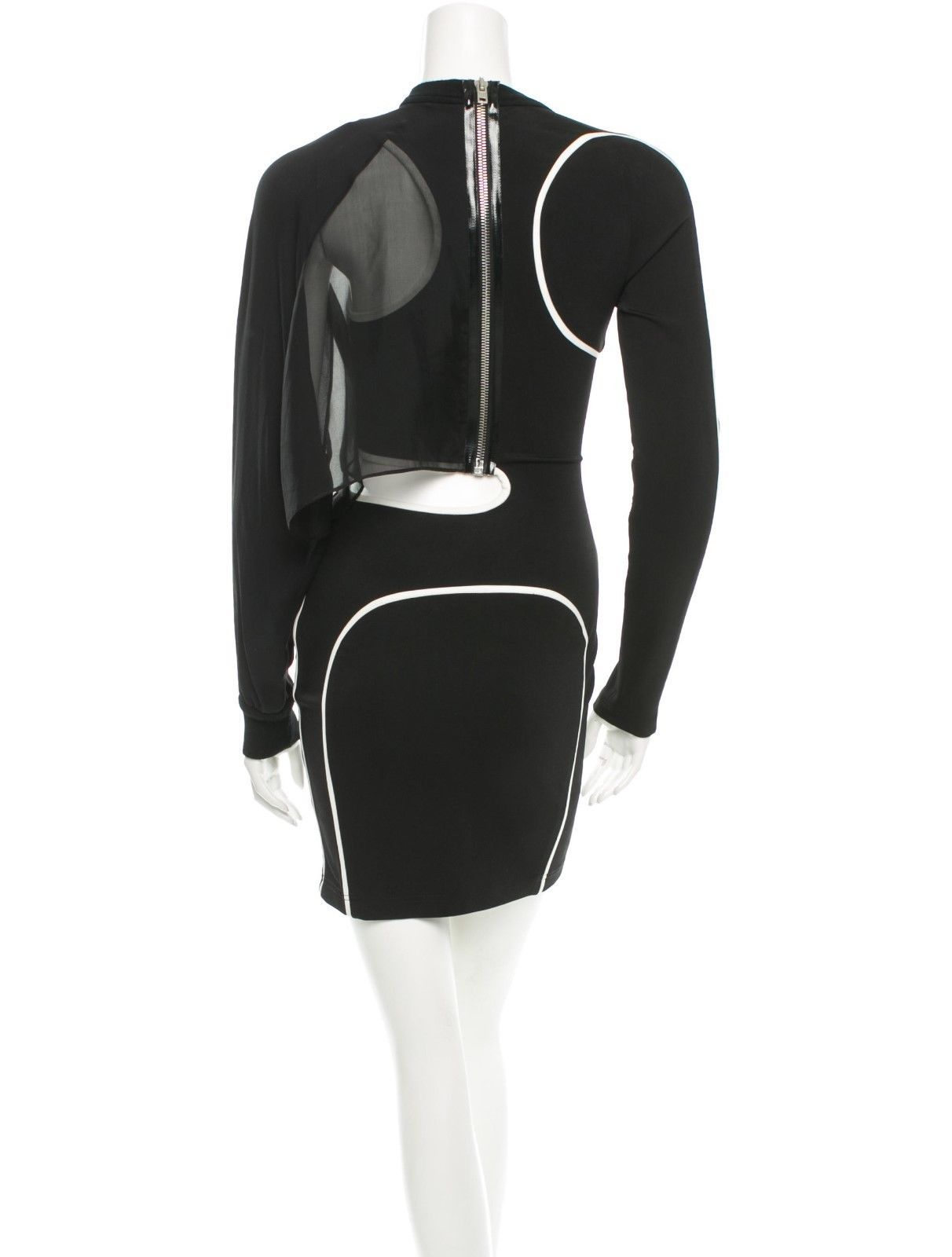 CRAZY COOL, NWT $1,782 SEXY SOLD OUT BLACK & WHITE BODYCON ALEXANDER WANG DRESS image 2