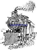 VINTAGE TRAIN NEW RELEASE mounted rubber stamp - $8.10