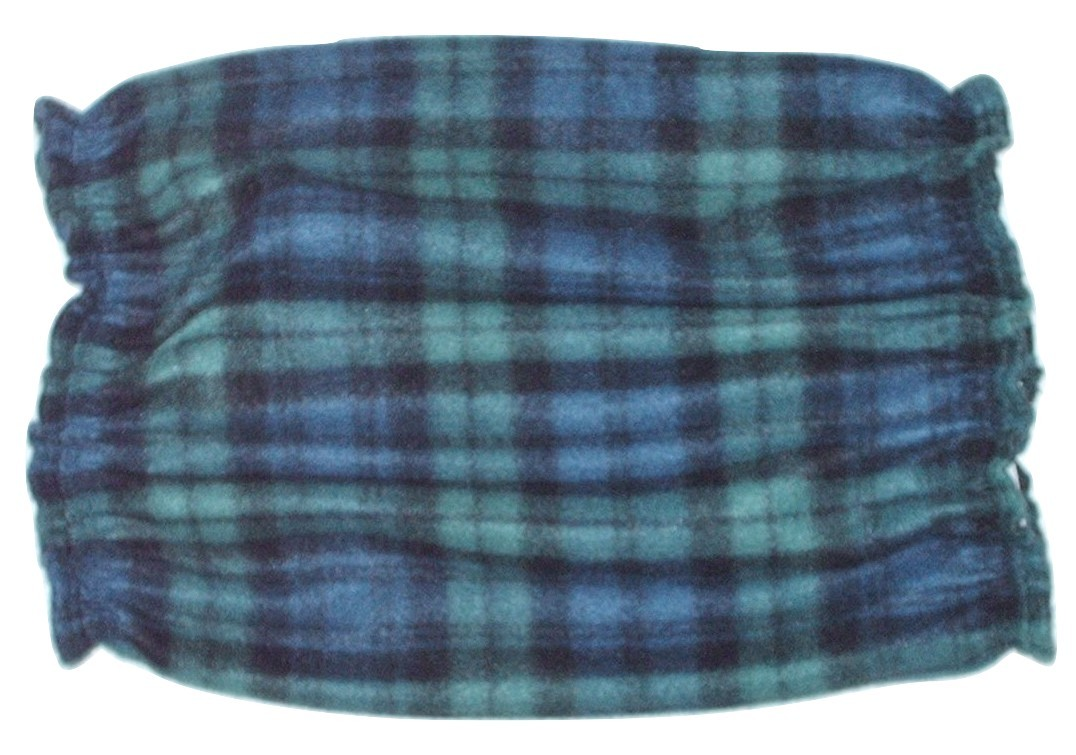Navy Green Black Plaid Fleece Dog Snood by Howlin Hounds Basset Hound Size Large