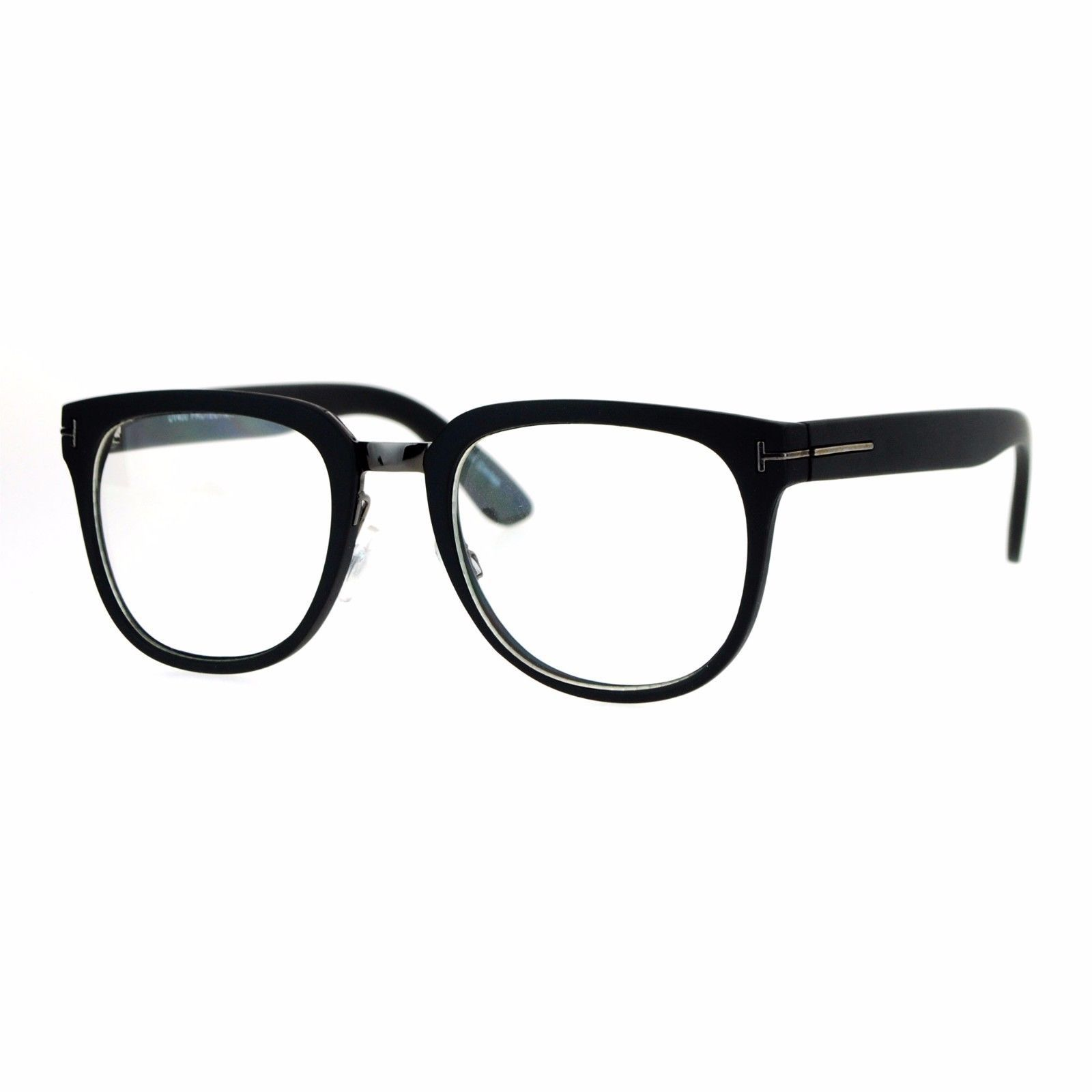 Clear Lens Eyeglasses Unisex Designer Fashion Square Frame UV 400
