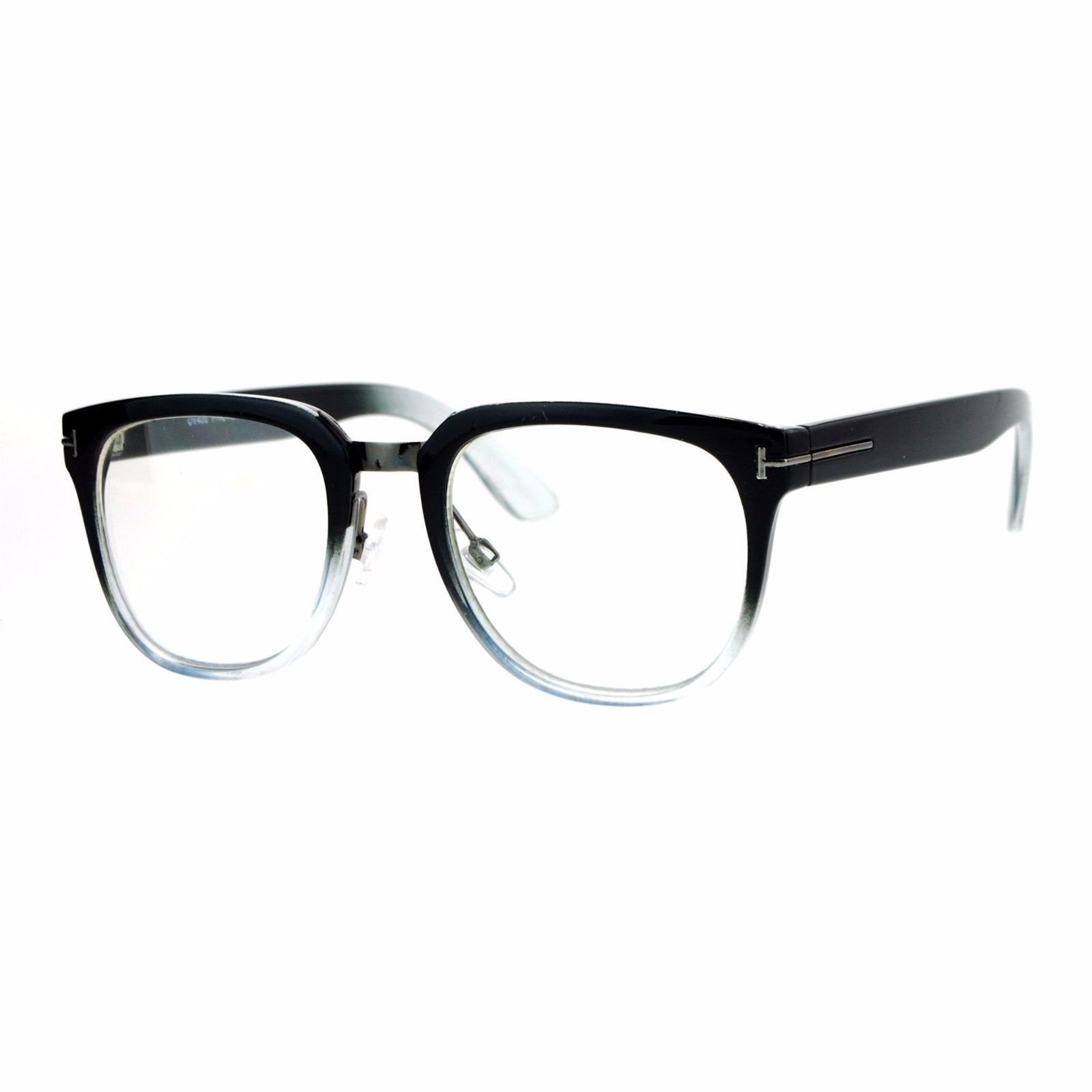 Clear Lens Eyeglasses Unisex Designer Fashion Square Frame UV 400
