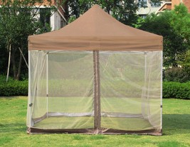 9.8 x 9.8 Ft Gazebo Mesh Mosquito Netting for Patio Outdoor Garden Canop... - $99.99