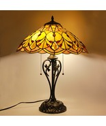 """Tiffany Style Stained Glass Table Lamp Victorian 2-Light 17.5"""" Shade 23""""... - $114.99"""