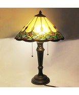 "Tiffany Style Stained Glass Table Lamp Victorian 2-Light 15.5"" Shade 22.... - $89.99"
