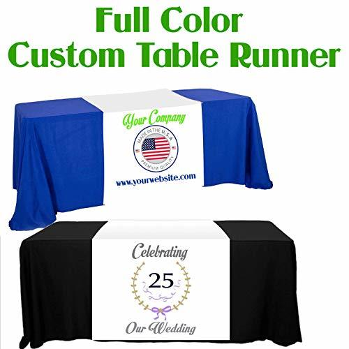 "Custom Table Runner 24""x90"" Add Your Business Logo or Any Text, Free Basic Custo"
