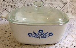 Vintage Corningware Cornflower Blue 1.5 QT Casserole w Lid P-1 1/2- B - $31.66