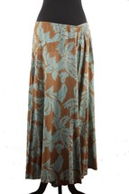 DRIES VAN NOTEN Green & Brown Cotton MAXI SKIRT... - $133.65