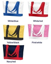 Heavy denier polyester Reinforced Beach Bridesmaids Boat Tote Bag Great ... - $10.60 CAD