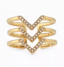 Stella & Dot  PAVÉ CHEVRON RING - GOLD NEW In B... - $19.80