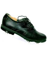 Foot Joy Men Dry Joys Aqua Flex Black Leather Soft Spike Oxford Golf Sho... - $31.44