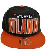 Atlanta Men's Adjustable Snapback Baseball Cap Hat with Script on Brim B... - $10.95