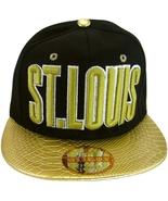St. Louis Men's Adjustable Snapback Baseball Cap Textured Brim with Scri... - $9.95