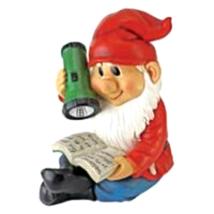 Flashlight Freddie Solar Garden Gnome Statue - €31,96 EUR