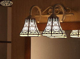 Stained Glass Mirror Picture Sconce Double Triple Light E27 Wall Lamp Fixture - $92.56+