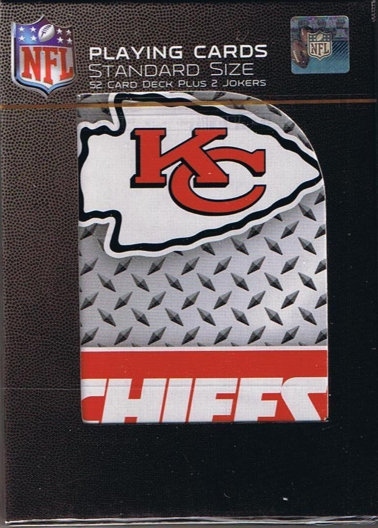 KANSAS CITY CHIEFS 52 PLAYING CARDS DECK DIAMOND PLATE POKER  NFL FOOTBALL