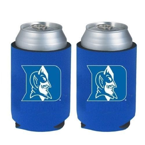 2 DUKE BLUE DEVILS BEER SODA WATER CAN BOTTLE KOOZIE KADDY HOLDER NCAA